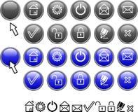 Set of web icons. Royalty Free Stock Photo