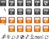 Set of web icons. Collection of buttons. Vector illustration stock illustration