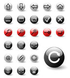Set of web icons. (buttons) - vector Stock Image