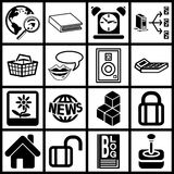 A set of web icons Stock Photo