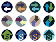 Set of web icons, Arrows Stock Photography
