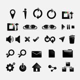 Set web icons black color vector design Stock Image
