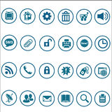 Set of web icons for business, finance and communication Royalty Free Stock Images