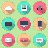 Set of web icons for business, finance and communication Royalty Free Stock Image