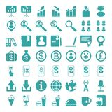 Set of web icons for business, finance and communication. Vector illustration eps10 Royalty Free Stock Images
