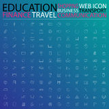 Set of web icons for business, finance, communication,transporta Royalty Free Stock Images