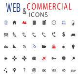 Set of web icons for business, finance and communication. Stock Photo