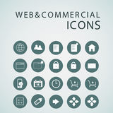 Set of web icons for business, finance and communication. Vector illustration Stock Photography