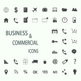 Set of web icons for business, finance and communication. Vector illustration Stock Photos