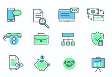 Set of web icons for business, finance and communication. Vector illustration Royalty Free Stock Photography
