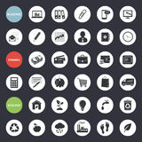Set of web icons for business, finance and ecology. Business, finance and ecology icons, set on gray background Royalty Free Stock Photos