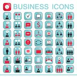Set of web icons for business finance. Office communication human resources Vector illustration Stock Photography
