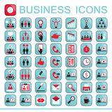 Set of web icons for business finance. Office communication human resources Vector illustration Stock Image