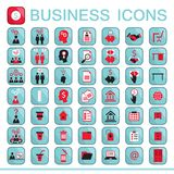 Set of web icons for business finance. Office communication human resources Vector illustration Royalty Free Stock Images