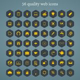 Set of web icons for business, finance and travel Stock Photo
