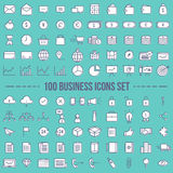 Set of web icons for business and finance vector Stock Photo