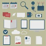 Set of web icons for business flat design, finance Stock Photo