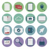 Set of web icons for business flat design, finance Royalty Free Stock Photo