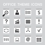 Set of 16 web icons for business, office theme. Vector illustration vector illustration