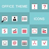 Set of 15 web icons for business, office theme. Vector illustration royalty free illustration