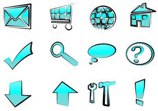 Set of web icons - buttons Royalty Free Stock Images