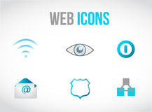 Set of web icons concept illustration design. Over graphic Stock Image