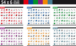 54 x 6 New Web Icons Royalty Free Stock Photo