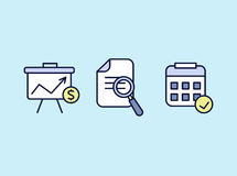 Set of web icons flat design for business, finance and communication. Vector illustration. Stock Photography
