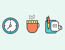 Set of web icons flat design for business, finance and communication. Vector illustration. Set of web icons flat design for business, finance and communication Royalty Free Stock Photography