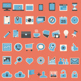 Set of web icons in flat design Royalty Free Stock Photos