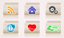 Set web icons of folders business internet Royalty Free Stock Photo