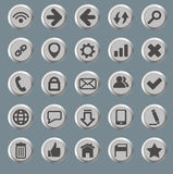 Set of the web icons Royalty Free Stock Photo
