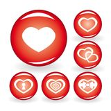 Set of web icons with hearts for your design royalty free illustration