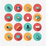 Set of web icons Royalty Free Stock Photography