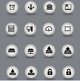 Set of web icons. Illustrated set of different web icons in flat design style Royalty Free Stock Images