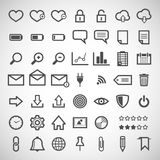 Set of web icons. Illustration with a set of web icons Royalty Free Stock Photography