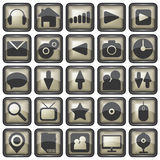 Set of web icons illustration Royalty Free Stock Photos