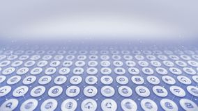 Set of web icons. Internet communication background. Various collection of icons for business. CG loop animation.