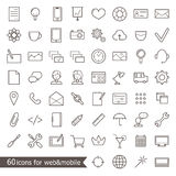Set of web icons Stock Photo