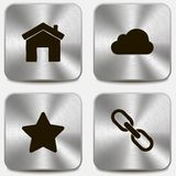 Set of web icons on metallic buttons vol2 Royalty Free Stock Photography