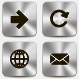 Set of web icons on metallic buttons vol1 Royalty Free Stock Photo