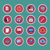 Set of web icons in modern flat design. Set of 16 web icons in modern flat design Royalty Free Stock Image