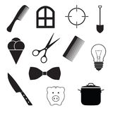 Set of web icons, pictograms. Vector illustration Royalty Free Stock Photo
