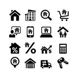 Set 16 web icons. Real Estate. Property, mortgage Stock Images