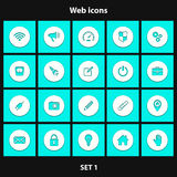 Set of web icons. Set of icons with shadow for web sites and mobile applications. Vector illustration vector illustration