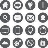 Set of 16 Web Icons. Set of 16 simple useful web icons Royalty Free Stock Image