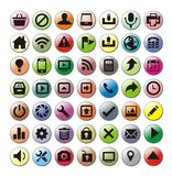 Set of web icons. Set of useful web icons in different colors royalty free illustration