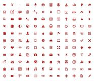 Set of web icons. Set of useful web icons in red color vector illustration
