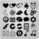 Set of 25 web icons Royalty Free Stock Photo