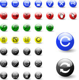 Set of web icons - vector Stock Image